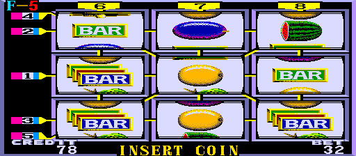 Lucky 8 Lines Arcade Game
